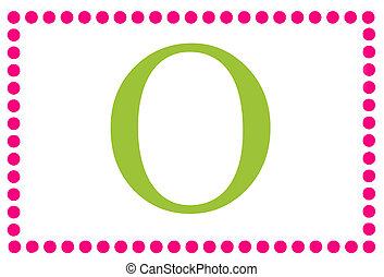 Rectangular Dots Monogram O