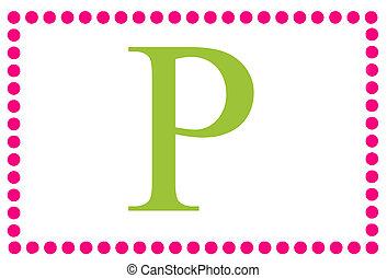 Rectangular Dots Monogram P