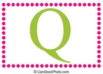 Rectangular Dots Monogram Q