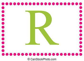 Rectangular Dots Monogram R