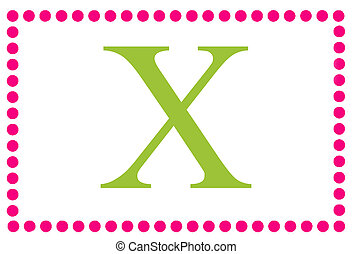 Rectangular Dots Monogram X