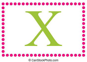 Rectangular Dots Monogram X