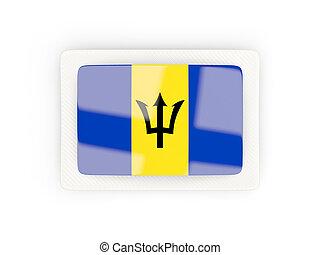 Rectangular flag of barbados with carbon frame
