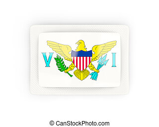 Rectangular flag of virgin islands us with carbon frame