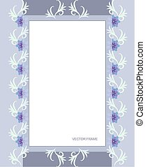 Rectangular flower frame