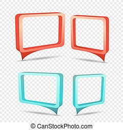 rectangular frame discount sticker set