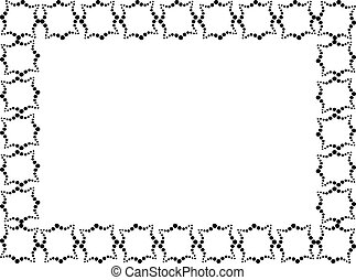 Rectangular frame made of decorative elements in black color