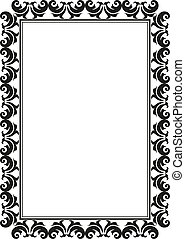 rectangular frame - silhouette of rectangular decorative...