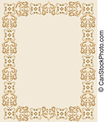 rectangular frame with brown gothic design
