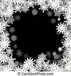 Rectangular frame with small snowflakes