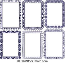 rectangular frame with embellishments