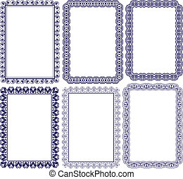 rectangular frames - rectangular frame with embellishments