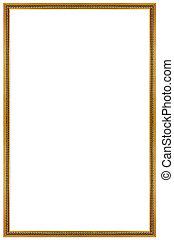 Rectangular Gilded Frame - Rectangular Wooden Gilded Frame...