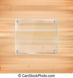 Rectangular glass frame