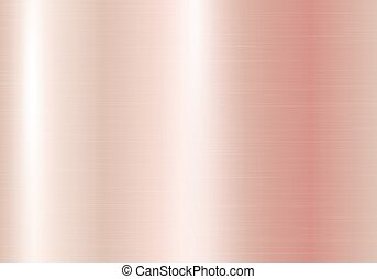 Brilliant rectangular background with a pink gold texture. Vector illustration with metallic effect