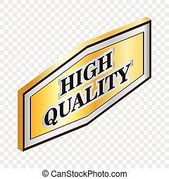 Rectangular label high quality isometric icon
