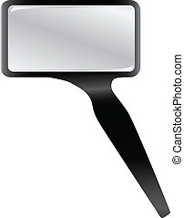 Rectangular magnifying glass