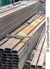 Rectangular metal pipe for construction on site