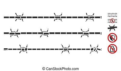 Rectangular Mosaic Barbwire Fence - Dotted Mosaic based on ...