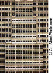 Rectangular Patterns of Windows and Building Design on Skyscaper in Kuala Lumpur Malaysia