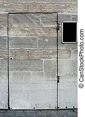 Rectangular props door - The photograph of a rectangular...