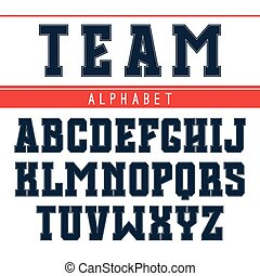 Rectangular serif font in the style of college - Rectangular...