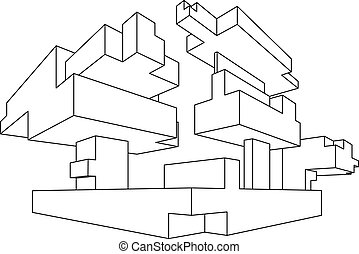 Rectangular Shape In One Point Perspective Rectangular