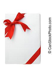 Rectangular shape white gift box