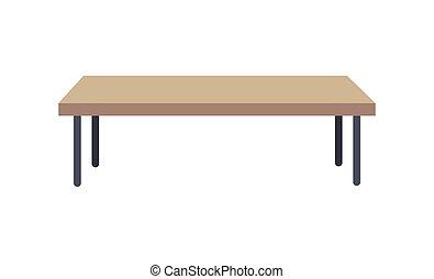 Rectangular Shaped Table, Vector Illustration