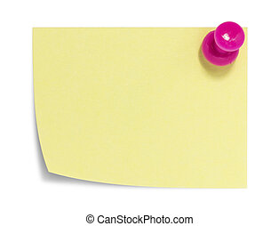 Rectangular sticky note with shadow