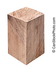 wooden block isolated - rectangular wooden block isolated on...