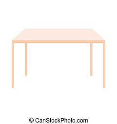 rectangular wooden table on white background