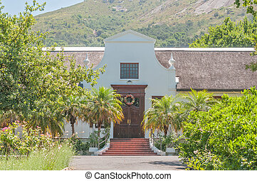 Rectory of the Strooidak (reed roof) church in Paarl