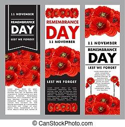 recuerdo, vetical, día, carteles