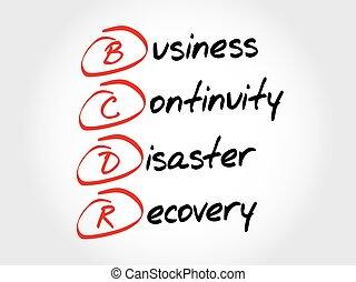 recuperación, -, bcdr, empresa / negocio, continuidad, ...