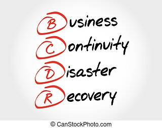 recupero, -, bcdr, affari, continuità, disastro