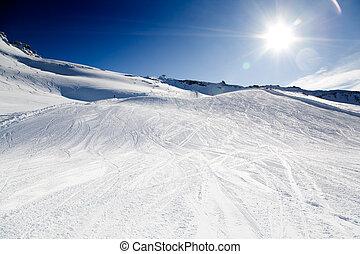 recurso, esquí
