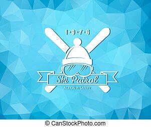 recurso, esqui, logotipo