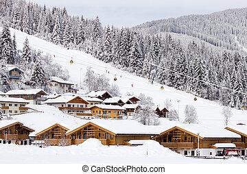 recurso, flachau, esquí