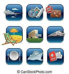 recurso, iconos de viajar