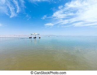 recurso, israel, turista, mar muerto