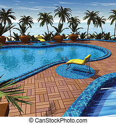 recurso, palmas, piscina