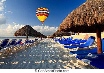 recurso, tudo, praia, luxo, inclusivo