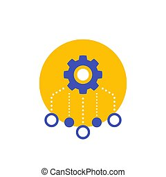 recursos, icono, blanco, allocation, vector