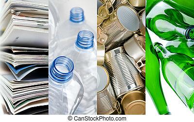 recycelbar, materialien