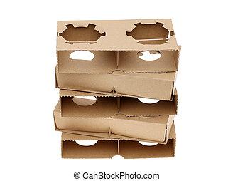 recyclé, papier, pulpe, porteur