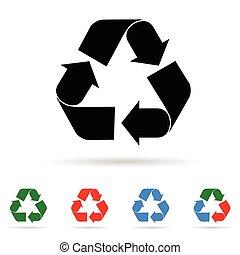 recycl kleur, illustratie, meldingsbord