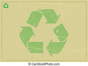 Recyclabe horizontal background