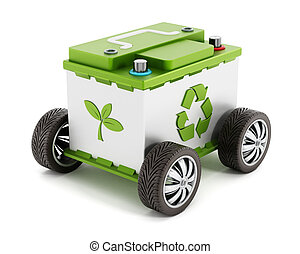Recyclable car battery with tyres