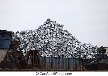 recyclable, métal, gaspillage, récipient